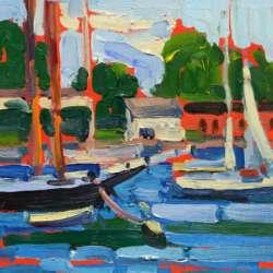 Keith Oehmig Camden Harbor Summer