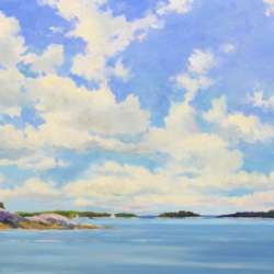 Keith Oehmig Clouds Over Casco Bay