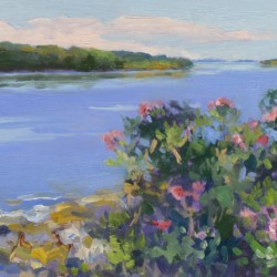 Keith Oehmig Wild Roses, Casco Bay