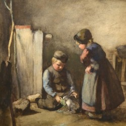 Jacob Kever Children with a Rabbit