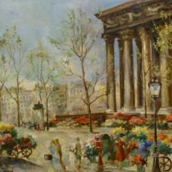 Ernest Emil Lanz Flower Market at the Madeleine