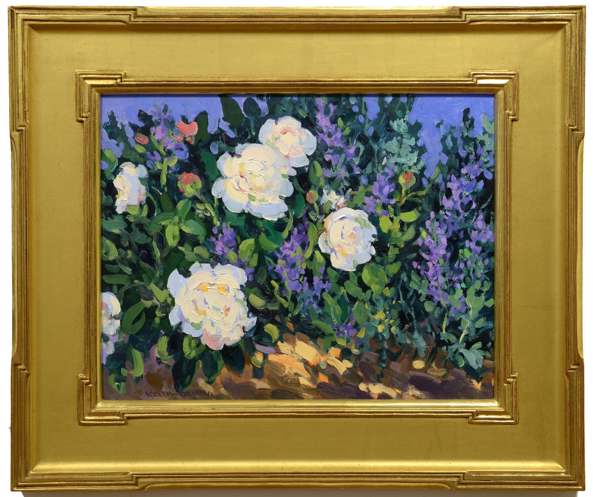 Keith Oehmig Garden Peonies framed