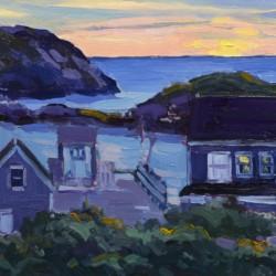Keith Oehmig Twilight, Monhegan Harbor