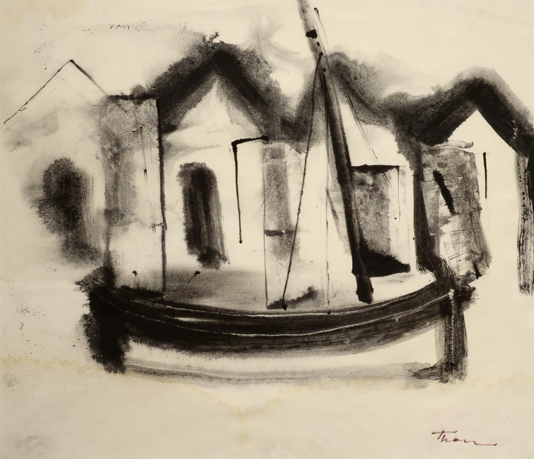 William Thon Sailboat and Fish Houses