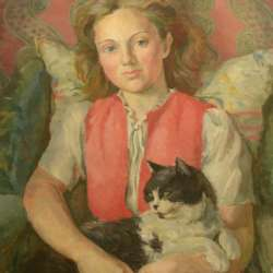 EM Watts A Girl and Her Cat