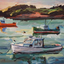 Harbor with Four Boats - Morton