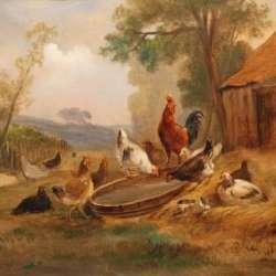 Barnyard Gathering - Unsigned