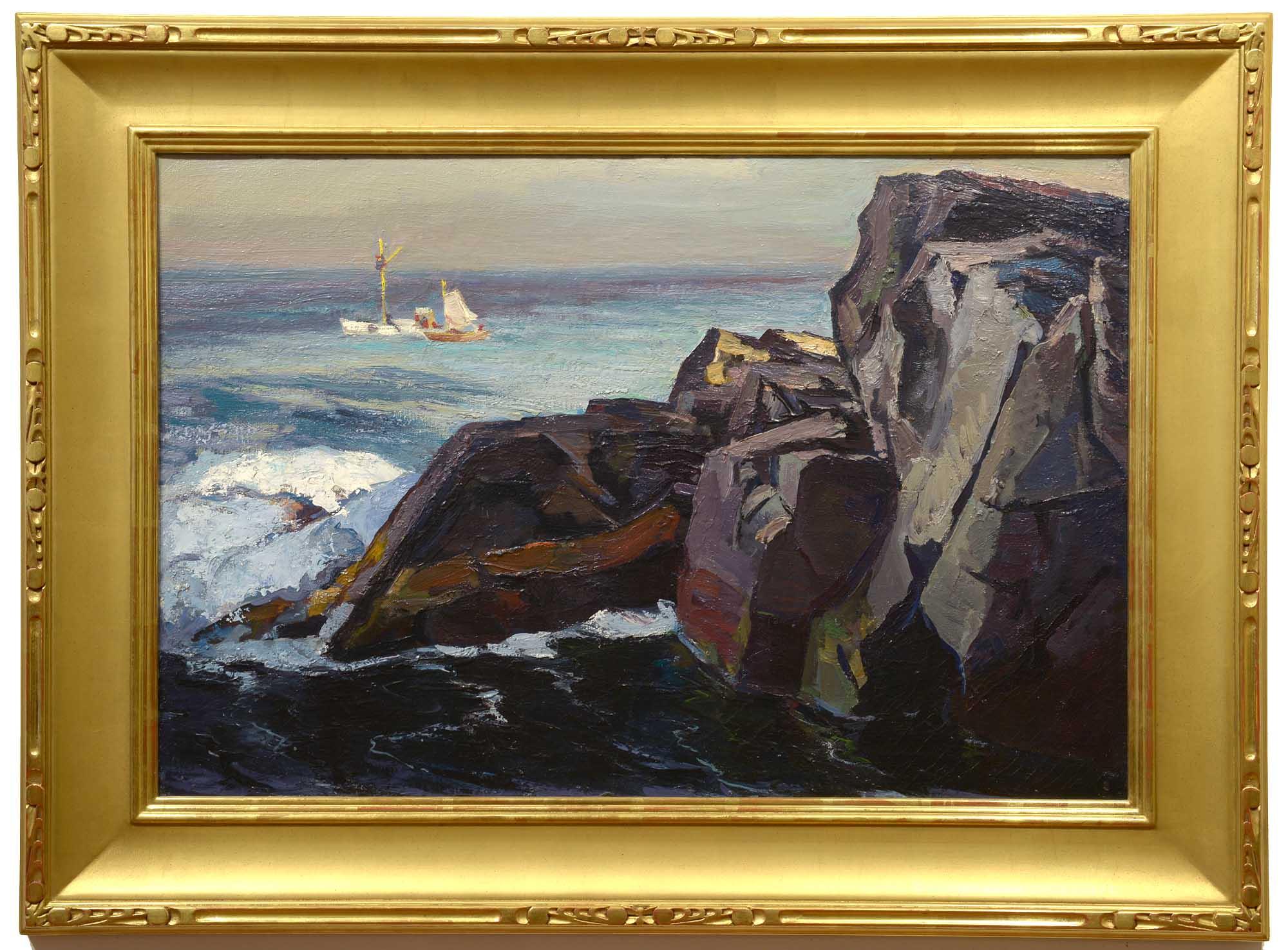 Abraham Bogdanove Fishing Boats off Squeaker Cove framed