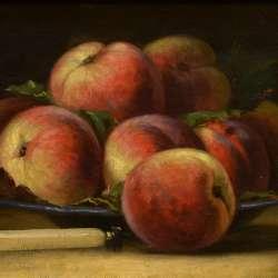 Leon Lemaitre Still Life with Peaches