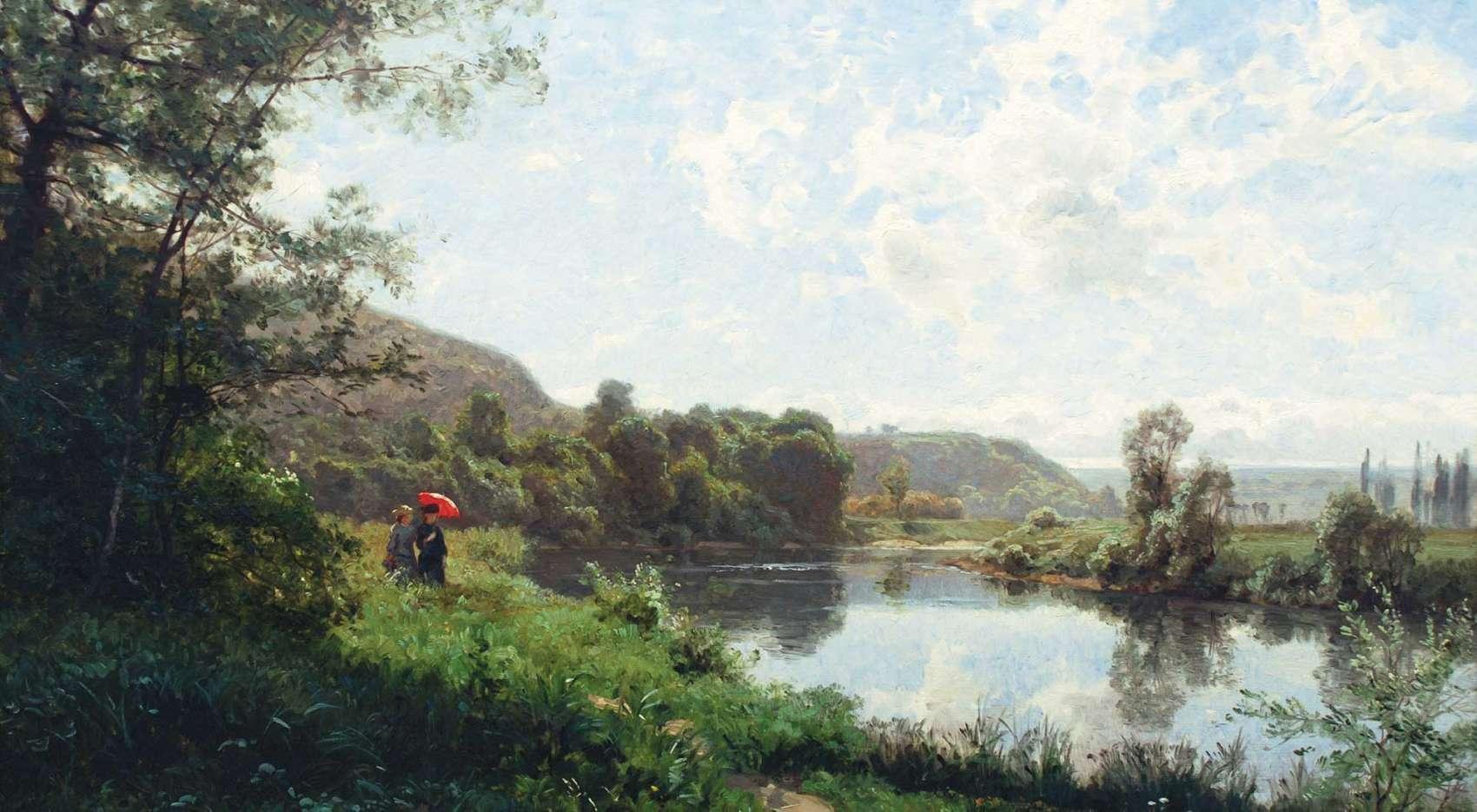 Emile Isenbart Stroll Along the River