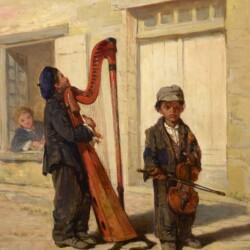 John George Brown Street Musicians, 1870