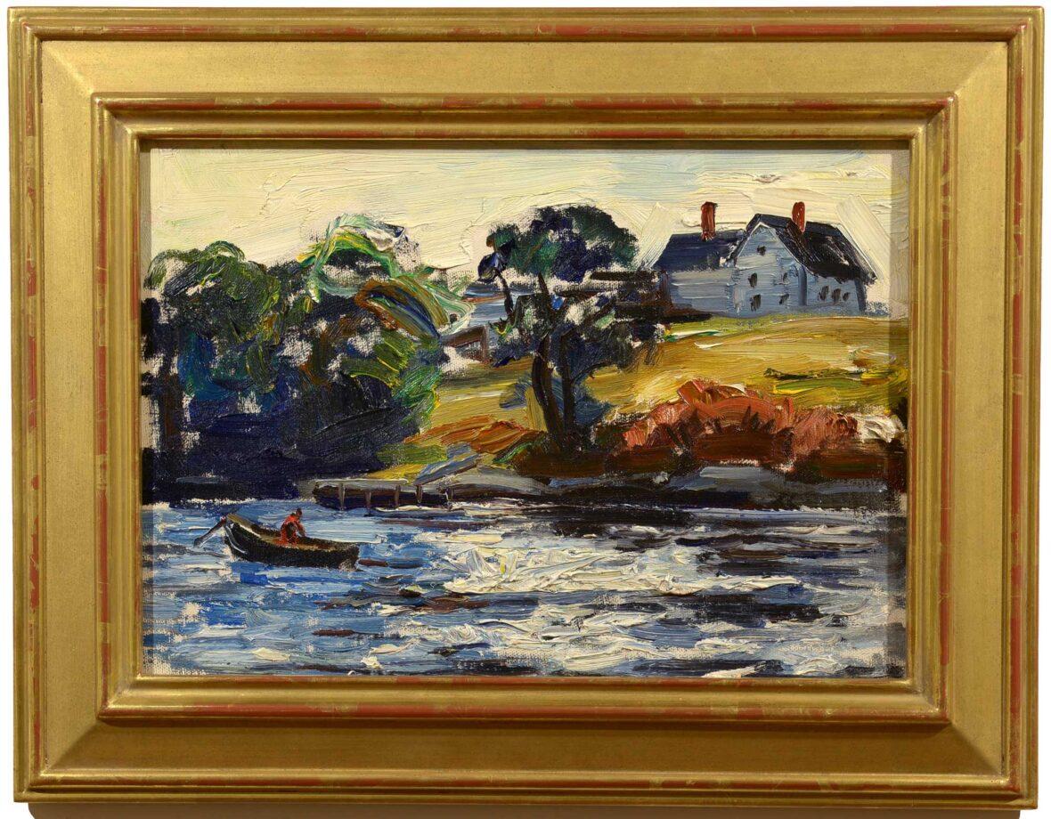 John Fulton Folinsbee At the Mooring framed