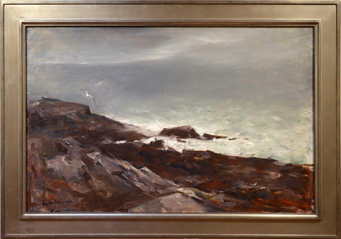 John Fulton Folinsbee Rocks and Surf framed