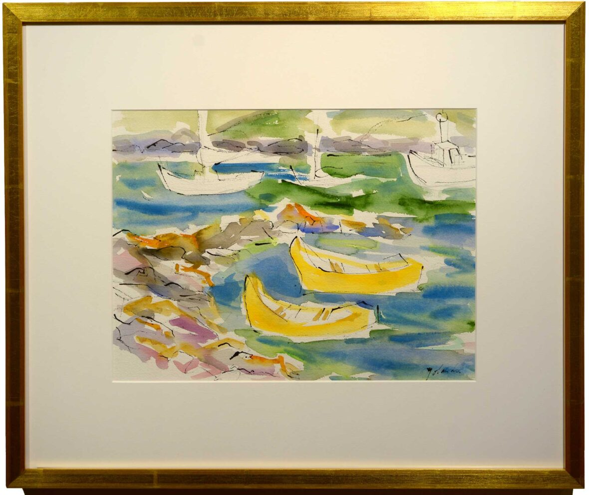 Yolanda Fusco Yellow Dories framed