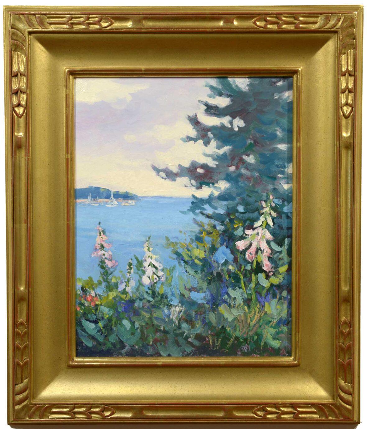 Keith Oehmig Summer Garden, Potts Point framed