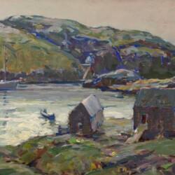 Karl Schmidt Silvery Day, Monhegan Harbor