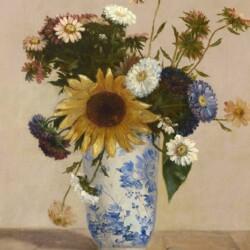 Frantz Seimetz Wildflowers in a Chinese Vase