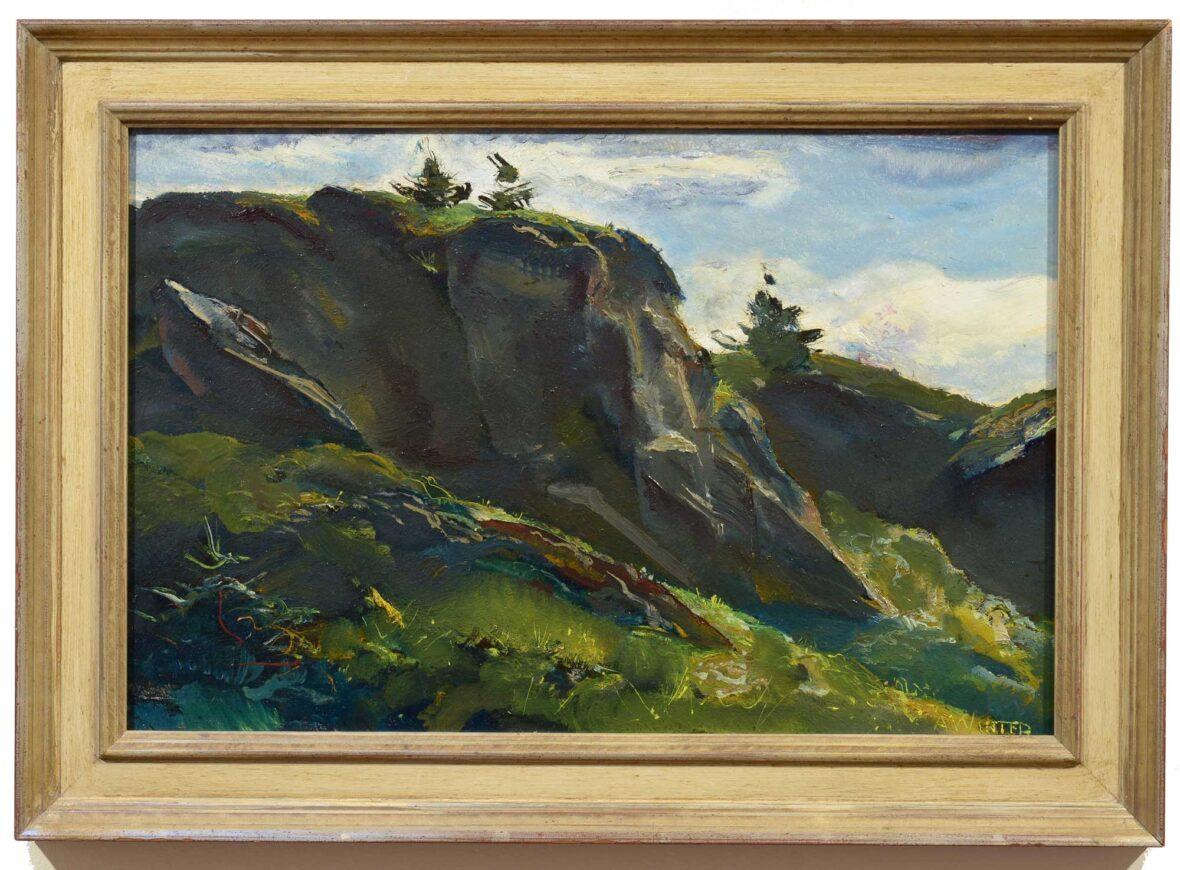 Andrew Winter Monhegan Midsummer Green framed