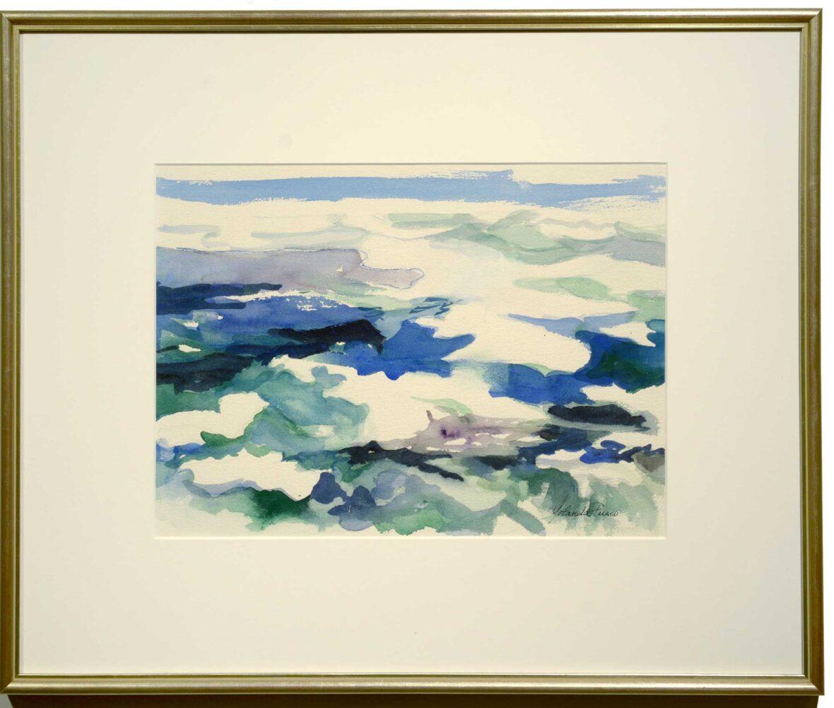 Yolanda Fusco Blue Seas framed
